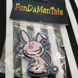 Accessories - Vintage 90s Happy Bunny Keychain